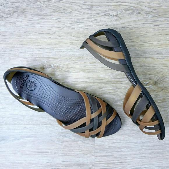 725a1708956c9 CROCS Shoes   New Huarache Woven Dorsay Strappy Sandals   Poshmark